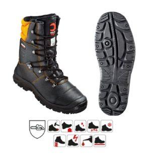 ROBINIE S3 protiřezná pracovní poloholeňová obuv z lícové kůže - foto 1