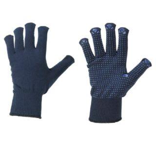 HENAN úpletové pracovní ochranné rukavice s PVC terčíky - foto 1