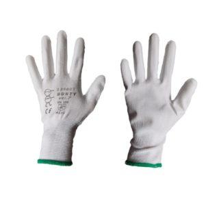 BUNTY WHITE bezešvé povrstvené ochranné rukavice - foto 1