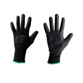 BUNTY bezešvé povrstvené ochranné rukavice černé barvy - foto 1