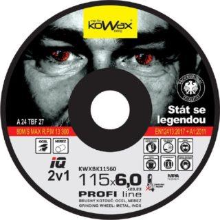 Brusný kotouč Kowax IQ+ 2v1 115 x 6,0 x 22,2 na Ocel a Nerez - foto 1