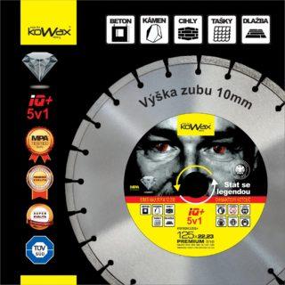 125x2.2x10 5v1 Diamantový řezný kotouč KWXDK12522S+ Kowax - foto 1