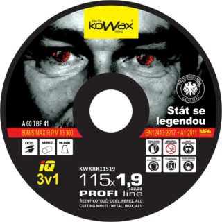 115x1.9x22.2 3v1 Řezný kotouč Kowax KWXRK11519 - foto 1