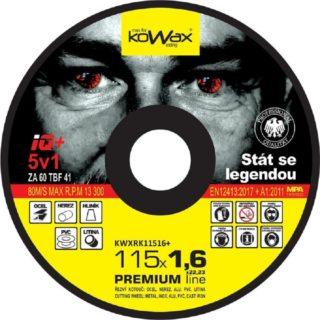 Řezný kotouč Kowax IQ+ 5v1 115 x 1,6 x 22,2 - foto 1