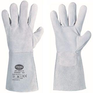 S 53 svářečské rukavice velikost 10.5 z hovězinové štípené usně - foto 1