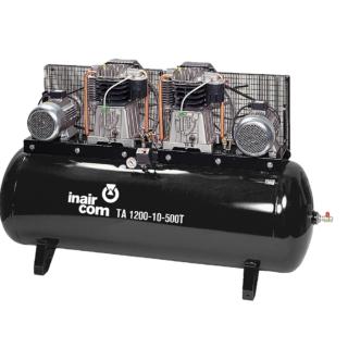 TA 1200-10-500T stacionární tandemový pístový kompresor Inaircom 2x4 kW - foto 1