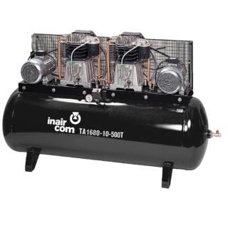 TA 1680-10-500T stacionární tandemový pístový kompresor Inaircom 2x5.5 kW - foto 1