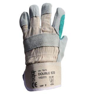 DOUBLE ECO kombinované pracovní rukavice ze štípené hověziny - foto 1