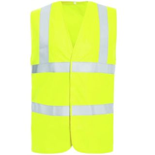 DAMIAN žlutá reflexní pracovní vesta ze 100% polyesteru - foto 1