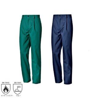 FLAME modré montérkové kalhoty s nehořlavou úpravou - foto 1