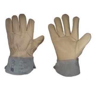 HIDE pracovní celokožené rukavice z výběrové nábytkové usně - foto 1