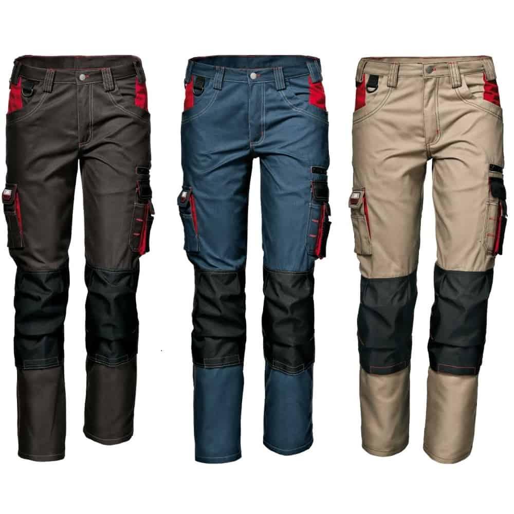 HARRISON modré montérkové kalhoty z polyesteru a bavlny - foto 1