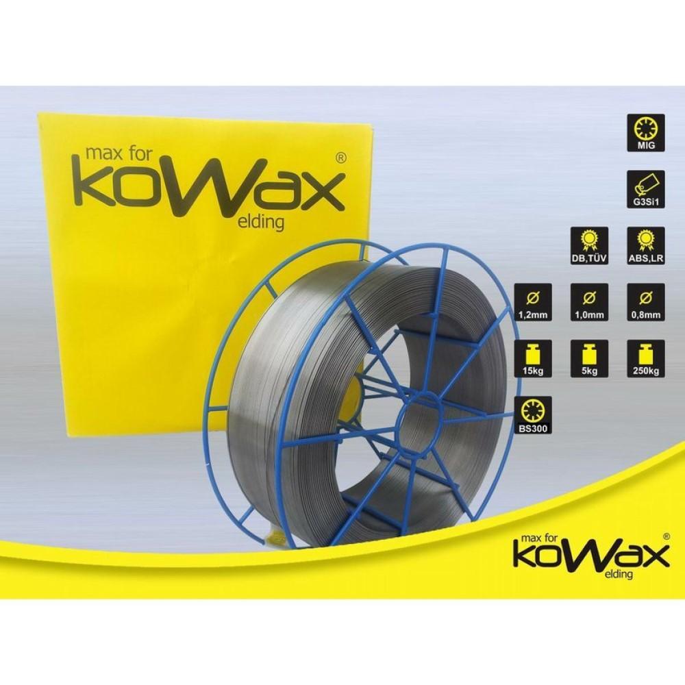 Kowax G3Si1 1.2mm 15kg Speed Road svařovací drát - nepoměděný