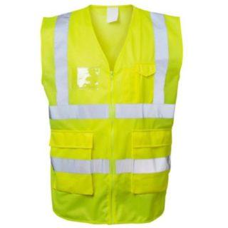 ALBIN žlutá reflexní pracovní vesta ze 100% polyesteru - foto 1