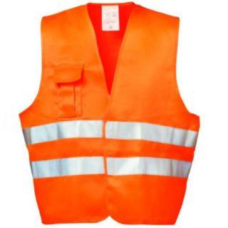 ALFONS oranžová reflexní pracovní vesta z polyesteru a bavlny - foto 1