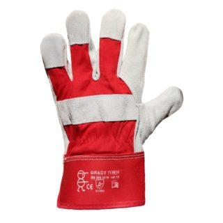 GRADY kombinované pracovní rukavice ze štípené hovězinové usně - foto 1